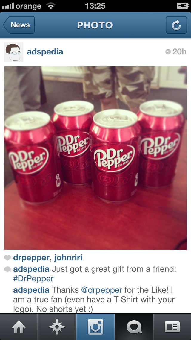 Dr Pepper Instagram