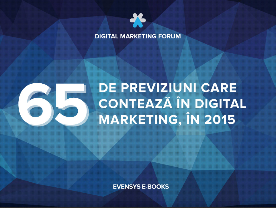 Ebook: 65 de previziuni care conteaza in digital marketing, in 2015